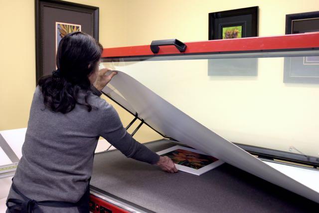 Dry Mounting Custom Framing